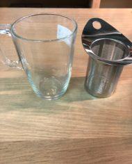 Glazen thee tas 2